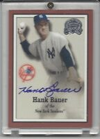 2000 Fleer Greats of the Game Hank Bauer, New York Yankees Signed AUTO JSA LOA