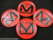 MOZ  ALLOY RED/BLACK  CUSTOM WHEEL CENTER CAPS   (SET OF 4)