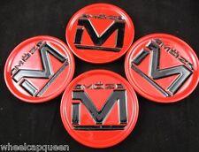 MOZ  ALLOY RED/BLACK  CUSTOM WHEEL CENTER CAPS   (SET OF 4)