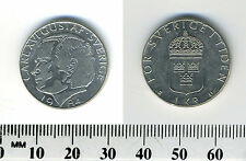 Sweden 1984 - 1 Krona Copper-Nickel Clad Copper Coin - King Carl XVI Gustaf