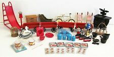 VTG Large Lot 41 Dollhouse Miniature Kitchen Furniture Accessories Queen Stove