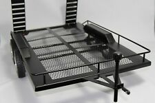 Dual Axle Flatbed Trailer Kit 1:10 RC Rock Crawler Truck Buggy LEDS Chain Tow
