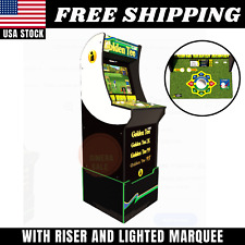 Golden Tee Arcade1UP Arcade Machine with Riser and Lighted Marquee 4ft New
