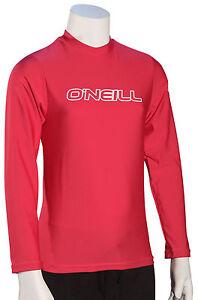 O'Neill Kid's Basic Skins LS Surf Shirt - Watermelon - New