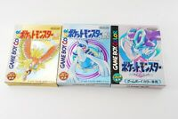 POKEMON Gameboy Nintendo Gold SIlver Crystal Pocket Monster With New Batteries
