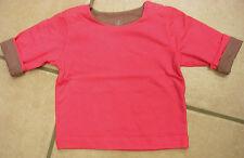 Sweat-Shirt, lachsrot und mittelbraun, Wende-Shirt,  von Petit Bateau. NEU!