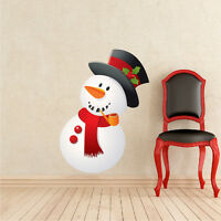 Snowman Wall Decal Winter Wall Decor Christmas Window And Wall Decorations, h79