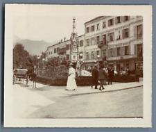 Allemagne,scène de rue, vers 1900 Vintage citrate print.  Tirage citrate  10