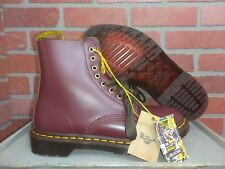 NEW Doc Dr Martens Pascal Leather Oxblood Cherry Boots Women's US Size 8 Men's 7