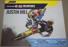 2018 Justin Hill Joe Gibbs Racing Suzuki RM-Z250 Supercross Motocross postcard