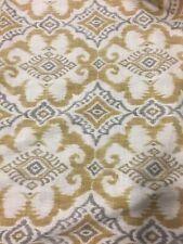 Goldenrod Ikat Geometric Kantha Covington Fabric by the yard NEW