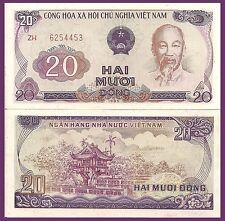 Viet Nam P94, 20 Dong, Ho Chi Minh /  One Pillar pagoda (Chùa Môt Côt) 1991 UNC