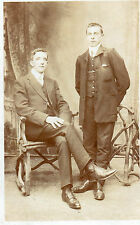 Vintage Postcard TWO GENTLEMEN, ONE STANDING, ONE SITTING Unposted  (PPL)