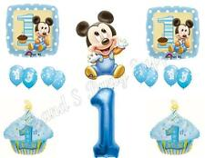 XL BABY MICKEY MOUSE 1st First Birthday Party Balloons Decoration Supplies Boy