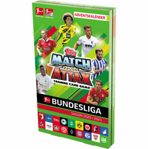 Topps Match Attax 2020/2021 Adventskalender inkl.131 Cards + 2 x Limited Edition