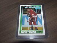 1991-92 O-Pee-Chee Sergei Fedorov #8 rookie