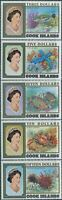 Cook Islands 1992 SG1273-1277 Reef Life high values MNH