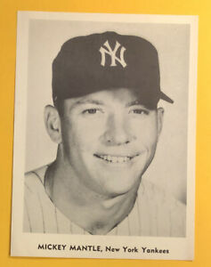 1958-61 Jay Publishing Mickey Mantle 5x7 Original Picture Pack Photo #2 Nice!!