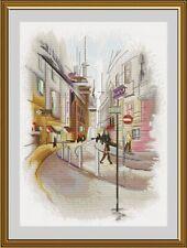 Counted Cross Stitch Kit NOVA SLOBODA PE3511 - City in watercolor