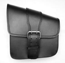 Side bag next frame Leather - 1 Big closure for motorcycle ( harley VN softail )