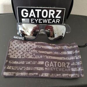 Gatorz Delta Sunglasses - Matte  Black Frame w/Smoke Polarized lens Chrome BNIB!