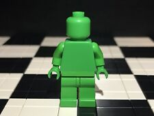 Lego Plain Bright Green Minifigure Head Torso Hands Legs / Monochrome