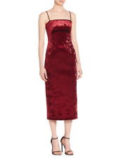 GORGEOUS BLACK HALO CONSTANCE EVE MIDI VELVET DRESS RED DAMSEL SZ 6 SOLD OUT NEW