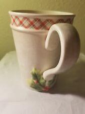 Hallmark Marjolein Bastin (1) Christmas Holly Mug Nature's Sketchbook Vg