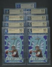 Lot of (9) 2018 Leaf 70th Anniversary Green Purple Black Blue Josh Allen BGS 9.5