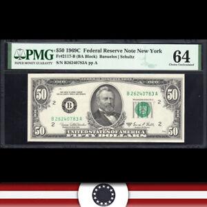 1969-C $50 New York FRN Federal Reserve Note PMG 64 Fr 2117-B  B26240783A