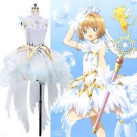 Card Captor Sakura:Clear Card Sakura Snow Outfit Dress Cosplay Costume LOT