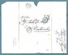 ITALIA - Regno - 1866 - Da Livorno a Civitavecchia. 20 c. ferro di cavallo I tip