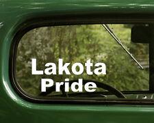 2 LAKOTA PRIDE DECALs Native American Sticker Car Truck Laptop Window Bumper