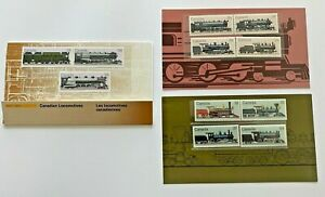 CANADIAN LOCOMOTIVES THEMATIC PACKS SC #29, #32, #35  Partial. CV $16.5 PV $4.43