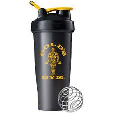 Blender Bottle Gold's Gym Clásico 28 OZ spoutguard Coctelera Taza-Negro/Oro