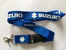 Blue White SUZUKI Lanyard NEW UK Seller Keyring ID Holder Strap