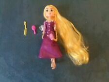 DISNEY PRINCESS  RAPUNZEL PURPLE VIOLET SPARKLE DRESS TWISTED BENDABLE DOLL