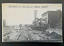 Mint Vintage 1913 Dayton OH Great Flood Union Depot Tracks Washout RPPC