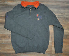 Tommy Hilfiger Boys Pullover Sweater Jumper Grey 100% Cotton 6-7 Years