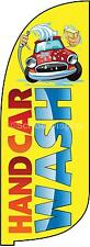 HAND CAR WASH sign ready printed flag 2mtr/7feet + base. full kit ready install