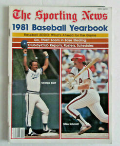THE SPORTING NEWS 1981 BASEBALL YEARBOOK - BRETT , SCHMIDT , WINFIELD , GARVEY