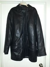 Leather jacket XL, longer than waist, quilted lining