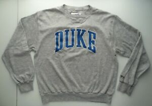 Bike Gridiron XL Duke Blue Devils Heather Gray Crewneck Sweatshirt VTG Made-USA