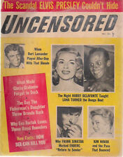 UNCENSORED expose magazine November 1957 Novak Belafonte Sinatra Elvis Presley