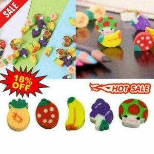 Mini Fruit Shaped Rubber Pencil Eraser Novelty Stationery Children D1B2 Z7H5