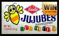 "VINTAGE JUJUBES CANDY BOX Photo MAGNET 4x2.5"" thin-flexible"