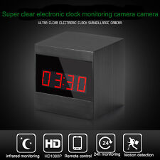 1080P HD clock spy camera mini DVR motion detection A10 Infrared night vision