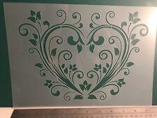 Love Heart Valentine Love Stencil A4 Wall Craft furniture laser cutMylar 125m