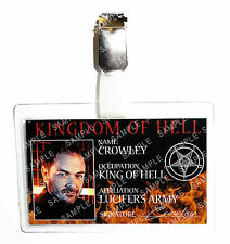 Supernatural Crowley ID Badge King of Hell Cosplay Prop Costume Gift Comic Con