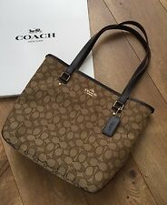 AUTHENTIC COACH Zip Top Tote  Brown Handbag Purse Style F58282  NWT